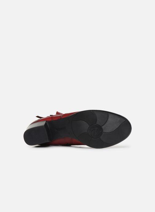 Bottines et boots Remonte Draf Rouge vue haut