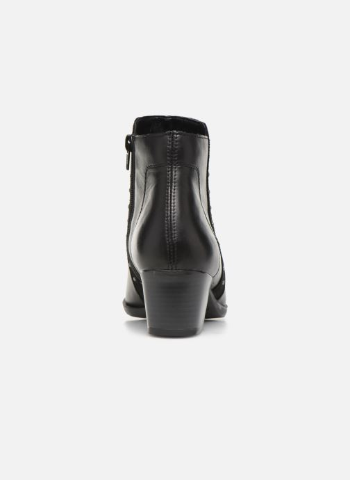 Ankle boots Remonte Léa Black view from the right