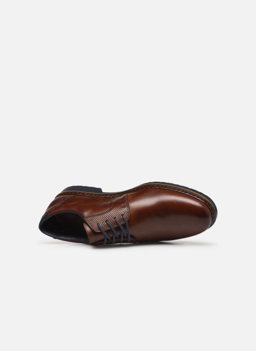 Zapatos con cordones Rieker Alban Marrón vista lateral izquierda