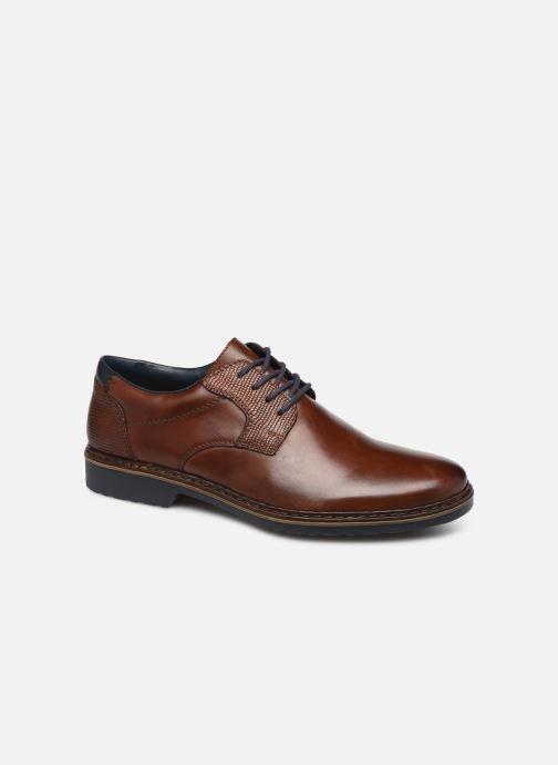 Zapatos con cordones Rieker Alban Marrón vista de detalle / par