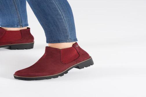 Bottines et boots Rieker Helene Bordeaux vue bas / vue portée sac