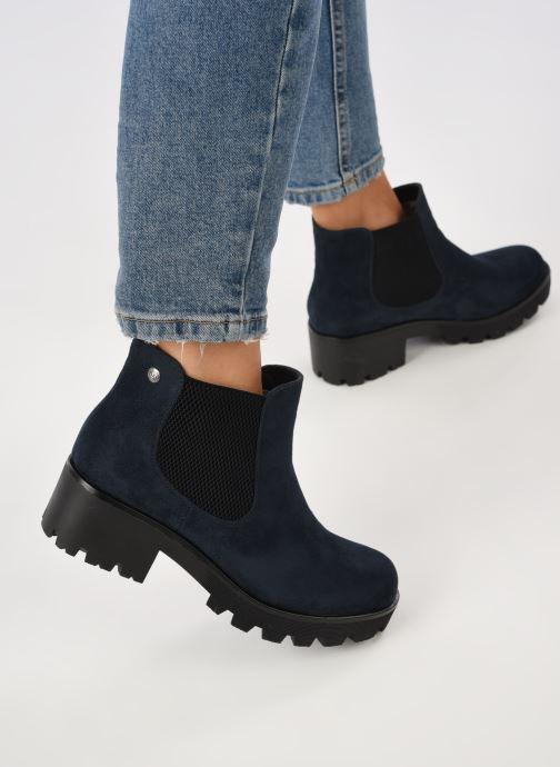 Bottines et boots Rieker Helene Bleu vue bas / vue portée sac