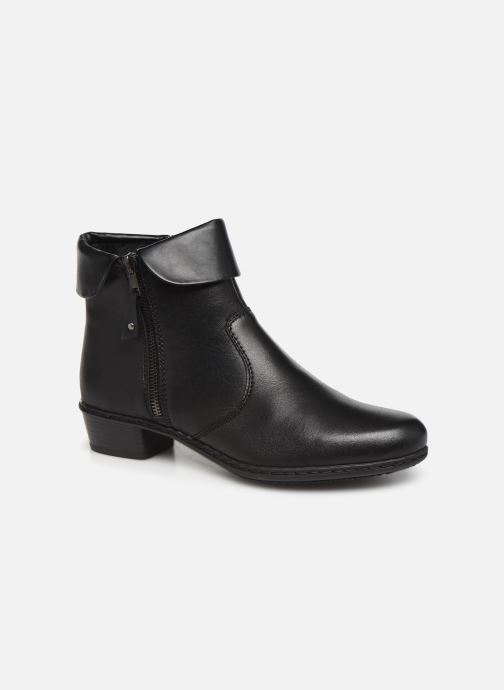 Ankle boots Rieker Bari Black detailed view/ Pair view