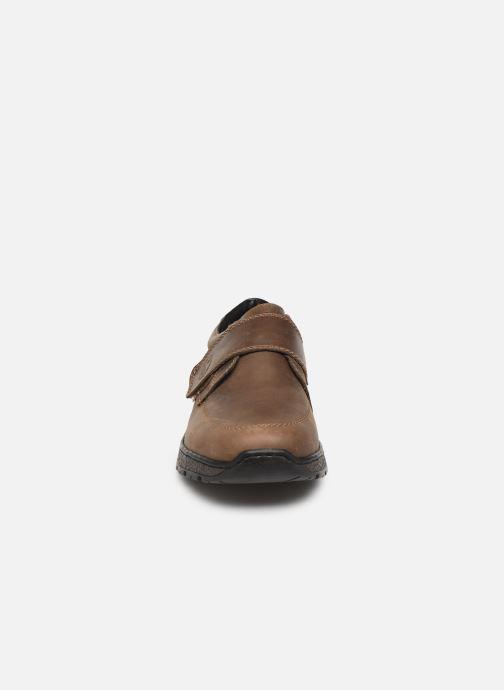 Chaussures à scratch Rieker Elie Marron vue portées chaussures