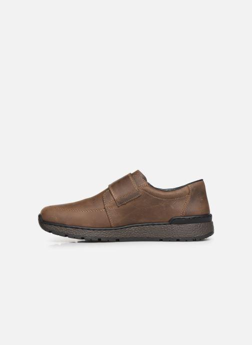 Schoenen met klitteband Rieker Elie Bruin voorkant