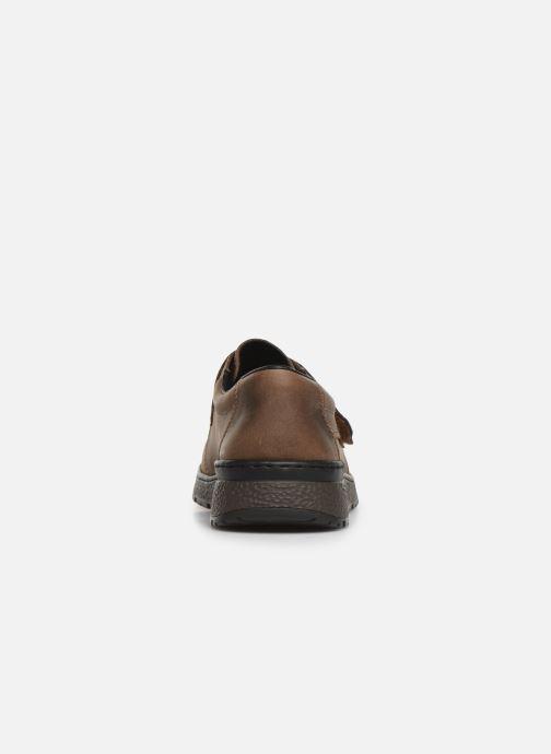 Chaussures à scratch Rieker Elie Marron vue droite