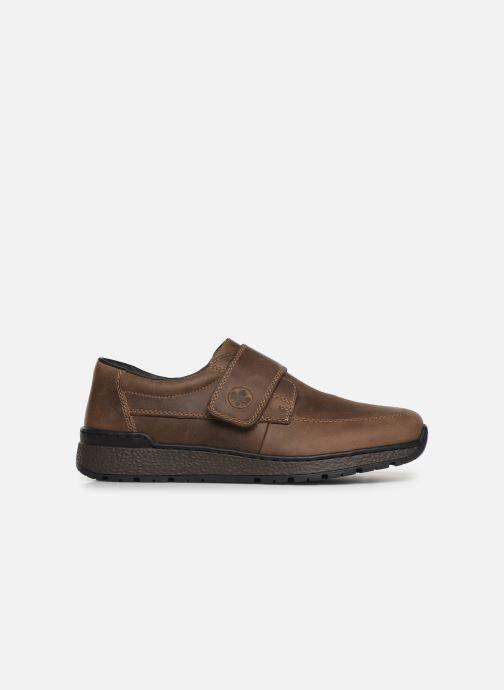 Schoenen met klitteband Rieker Elie Bruin achterkant