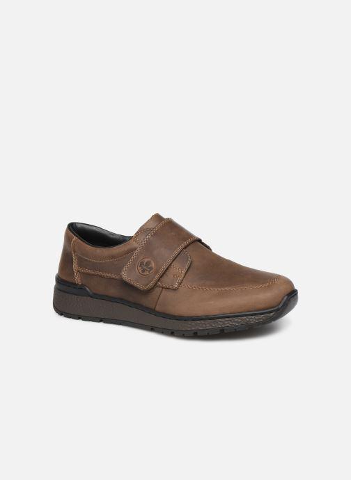 Schoenen met klitteband Rieker Elie Bruin detail