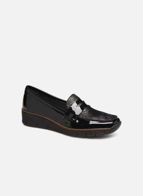 Loafers Rieker Naomi Black detailed view/ Pair view