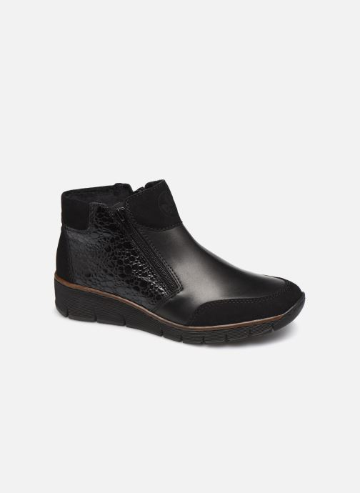 Ankle boots Rieker Nami Black detailed view/ Pair view