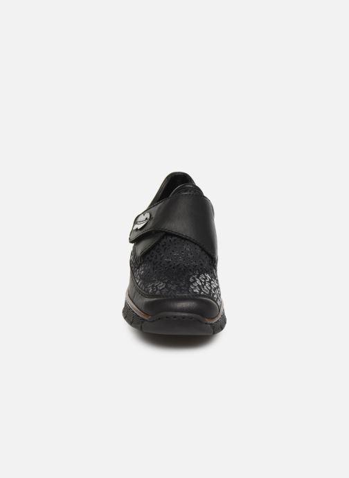 Mocassins Rieker Justine Noir vue portées chaussures