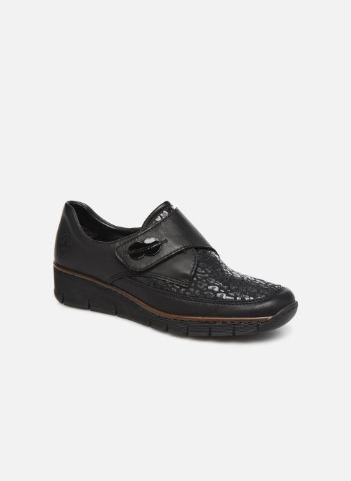 Loafers Rieker Justine Sort detaljeret billede af skoene