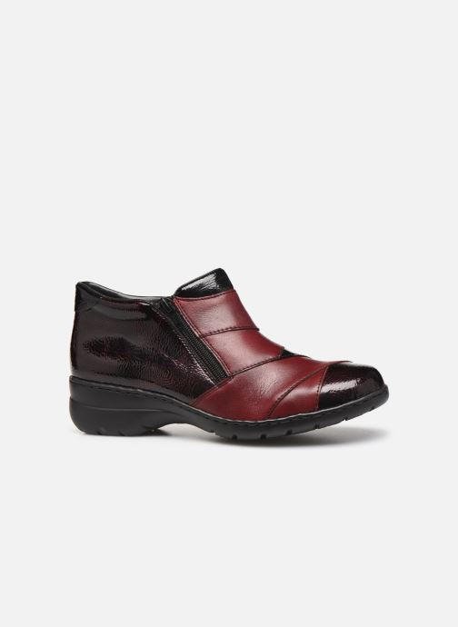 Ankle boots Rieker Claudia Burgundy back view