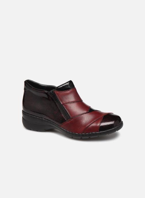 Ankelstøvler Rieker Claudia Bordeaux detaljeret billede af skoene