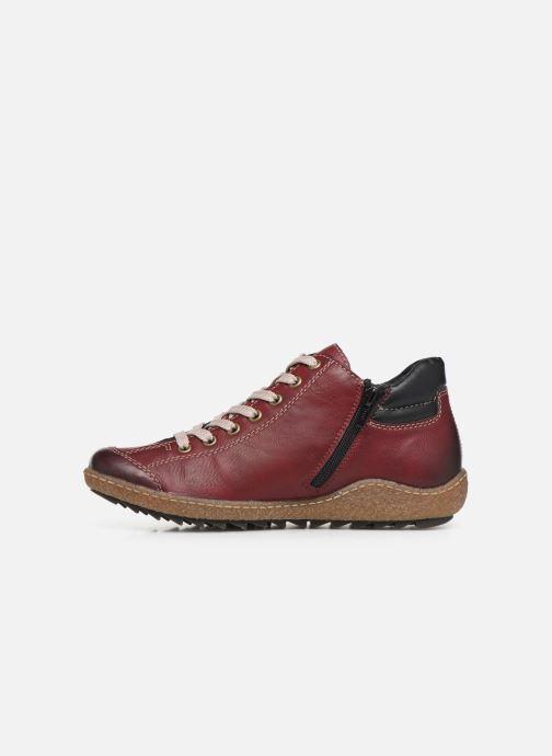 Sneakers Rieker Roro Bordò immagine frontale