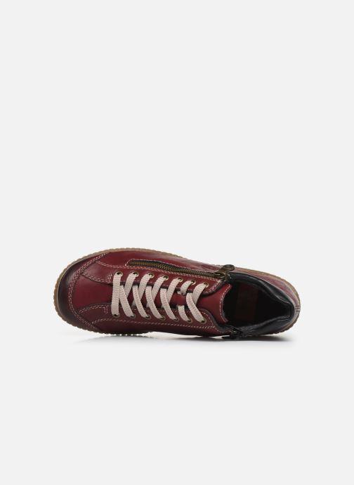 Sneakers Rieker Roro Bordò immagine sinistra