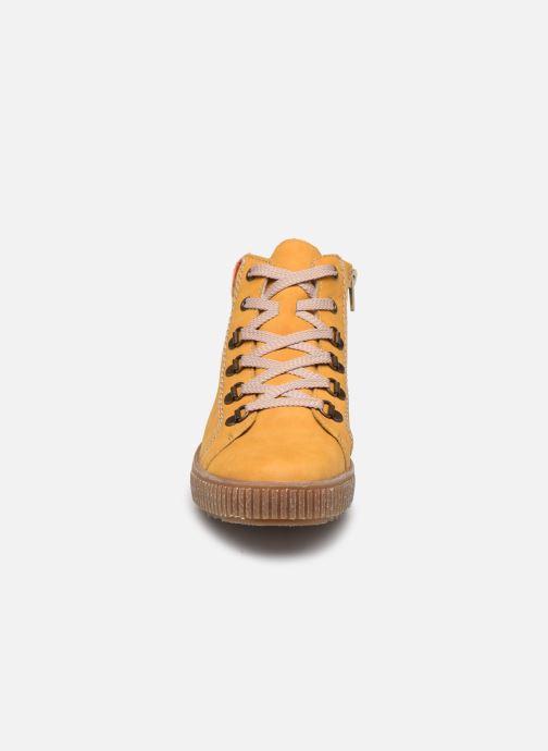 Sneaker Rieker Gibia gelb schuhe getragen