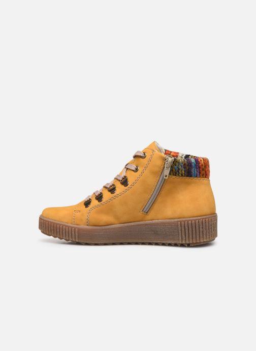 Sneaker Rieker Gibia gelb ansicht von vorne