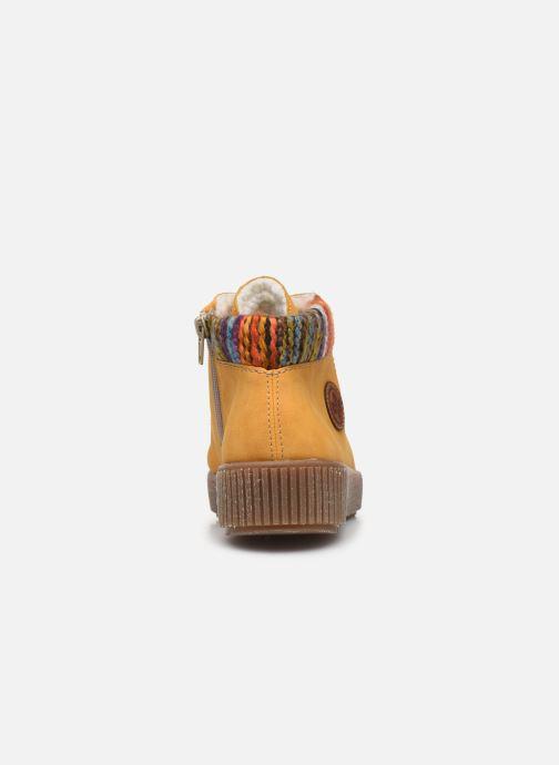 Sneaker Rieker Gibia gelb ansicht von rechts