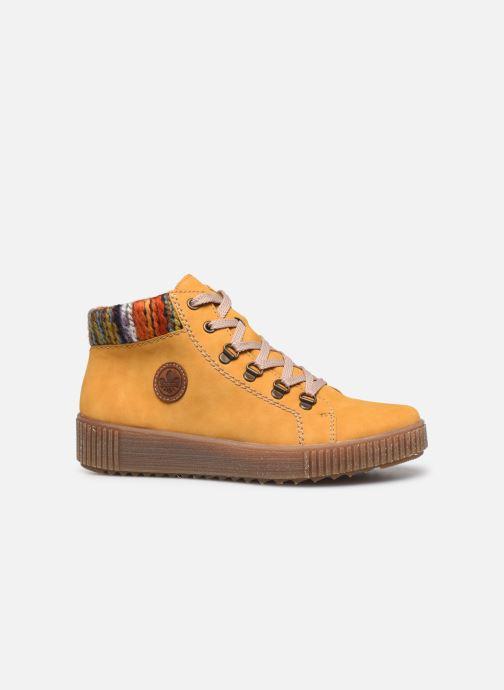 Sneaker Rieker Gibia gelb ansicht von hinten