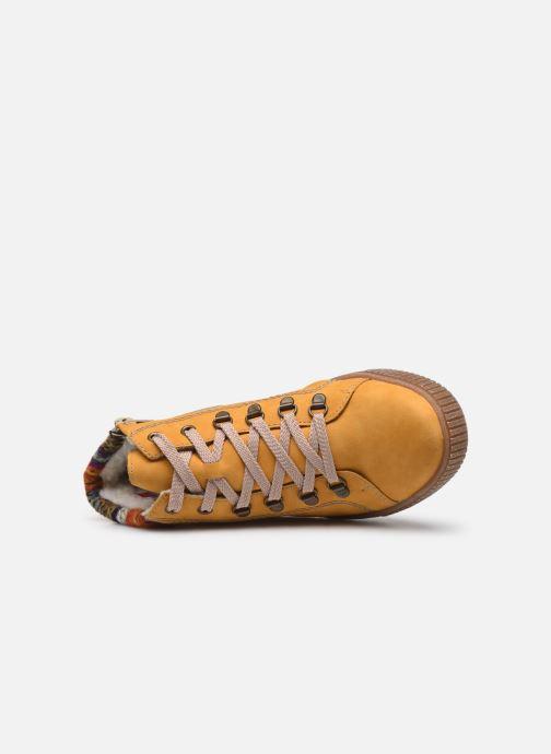 Sneakers Rieker Gibia Gul se fra venstre