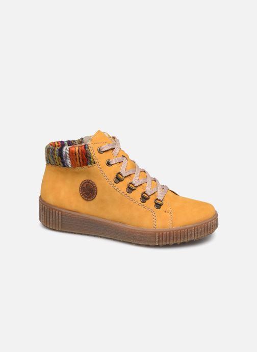Sneakers Rieker Gibia Gul detaljeret billede af skoene