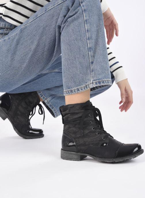 Bottines et boots Rieker Pia Noir vue bas / vue portée sac