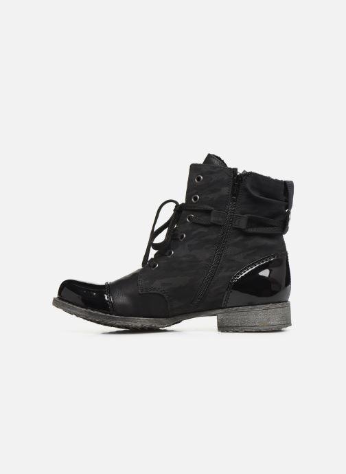 Boots en enkellaarsjes Rieker Pia Zwart voorkant