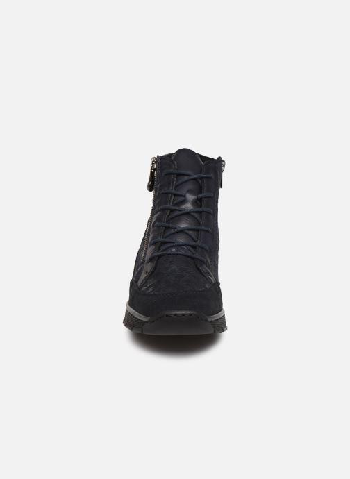 Bottines et boots Rieker Lia Bleu vue portées chaussures