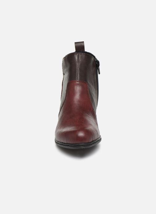 Bottines et boots Rieker Dina Bordeaux vue portées chaussures