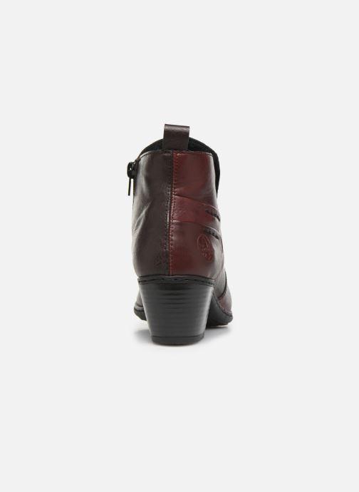 Bottines et boots Rieker Dina Bordeaux vue droite