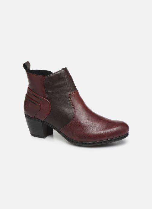 Ankelstøvler Rieker Dina Bordeaux detaljeret billede af skoene