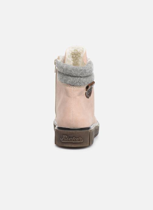 Bottines et boots Rieker Eta Rose vue droite