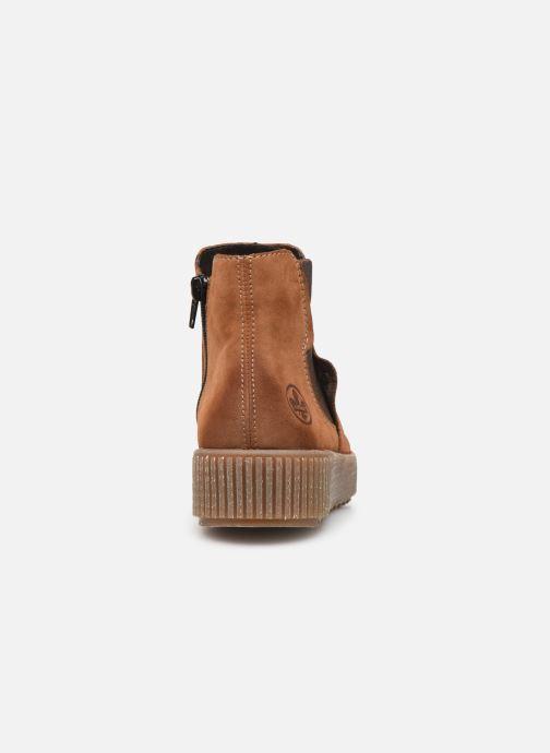 Bottines et boots Rieker Carole Marron vue droite