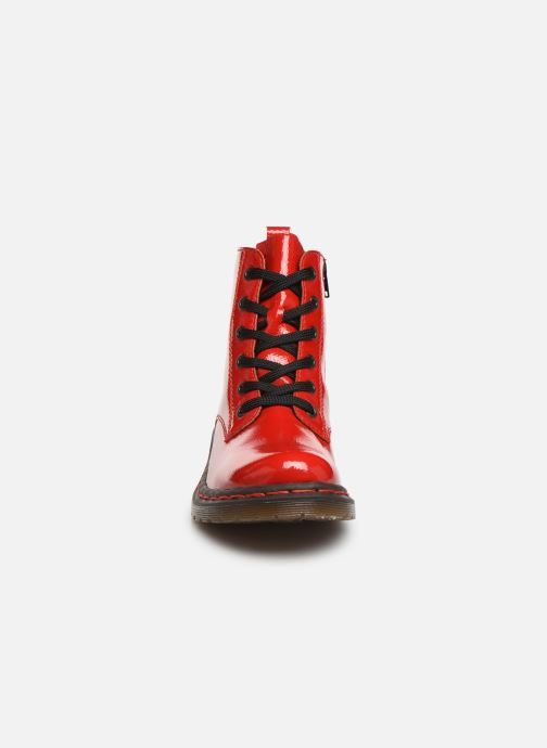 Ankelstøvler Rieker Noemie Rød se skoene på