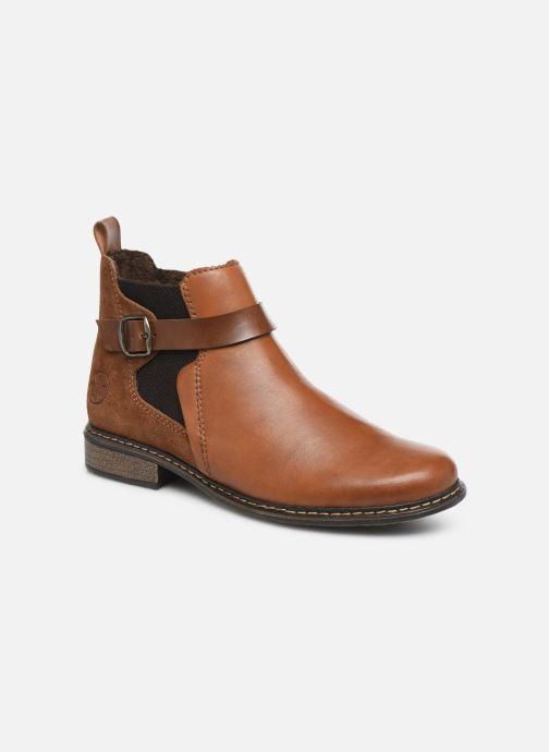 Bottines et boots Rieker Florianne Marron vue détail/paire
