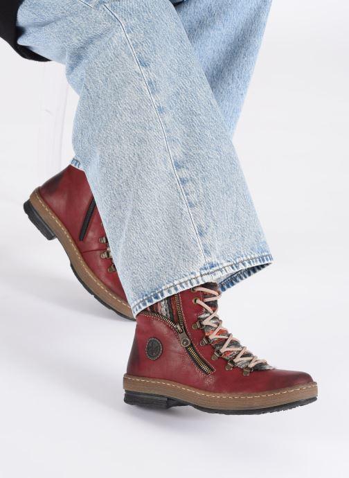 Bottines et boots Rieker Constance Bordeaux vue bas / vue portée sac