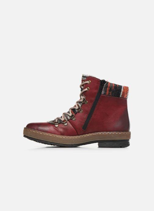 Bottines et boots Rieker Constance Bordeaux vue face