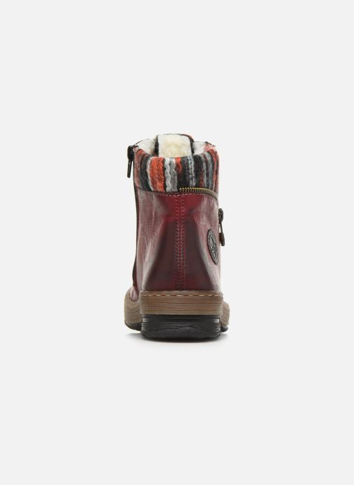 Ankle boots Rieker Constance Burgundy view from the right