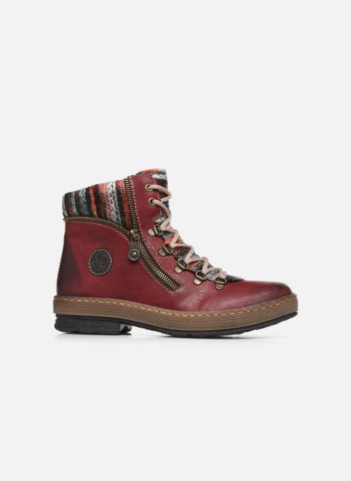 Bottines et boots Rieker Constance Bordeaux vue derrière