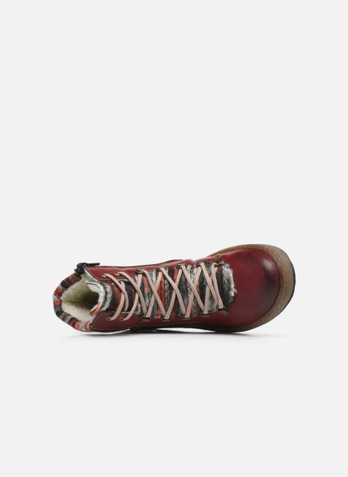 Bottines et boots Rieker Constance Bordeaux vue gauche