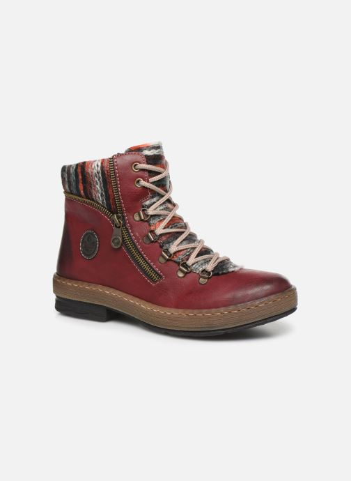Ankle boots Rieker Constance Burgundy detailed view/ Pair view