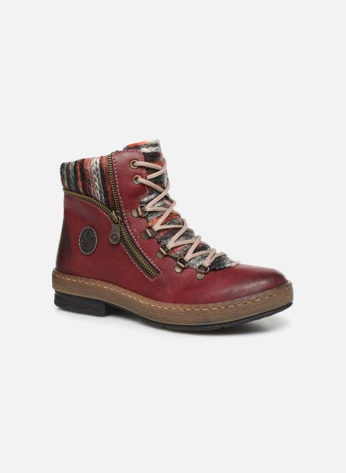 Bottines et boots Rieker Constance Bordeaux vue détail/paire