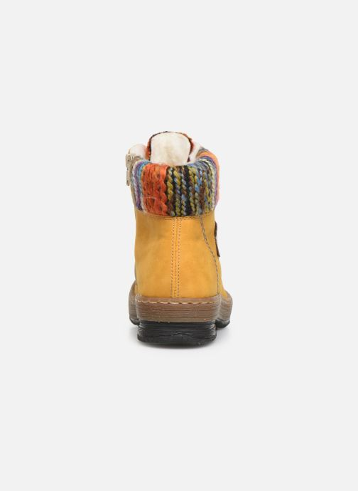 Ankle boots Rieker Ilam Yellow view from the right