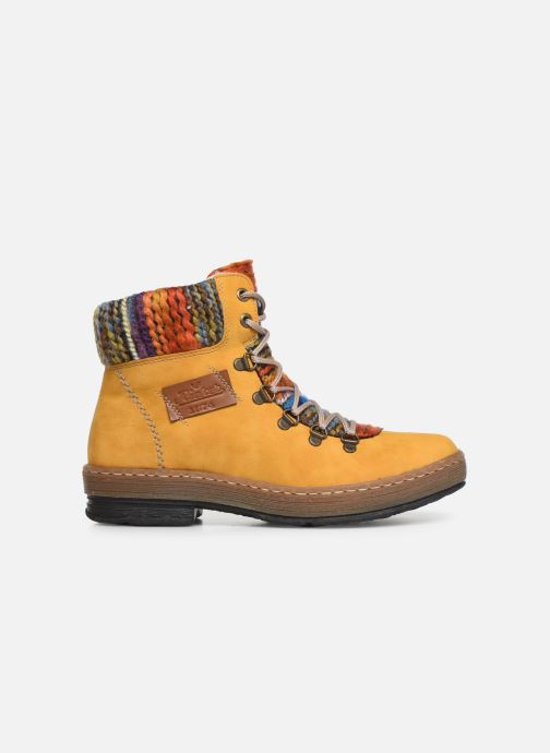 Ankle boots Rieker Ilam Yellow back view