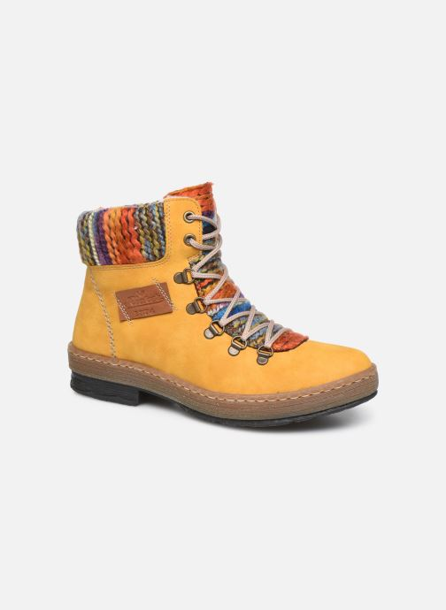 Ankle boots Rieker Ilam Yellow detailed view/ Pair view