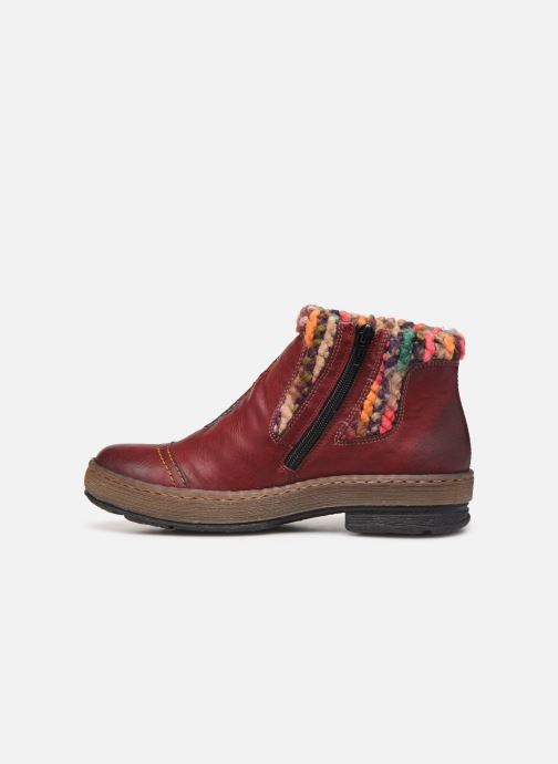Ankle boots Rieker Hortense Burgundy front view