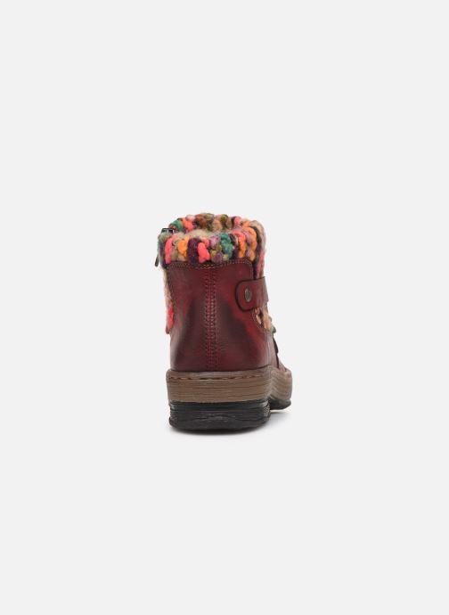 Bottines et boots Rieker Hortense Bordeaux vue droite