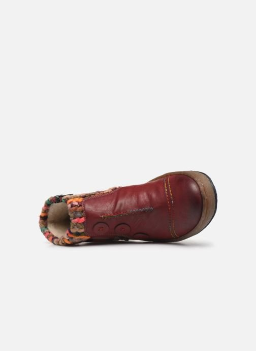 Ankle boots Rieker Hortense Burgundy view from the left