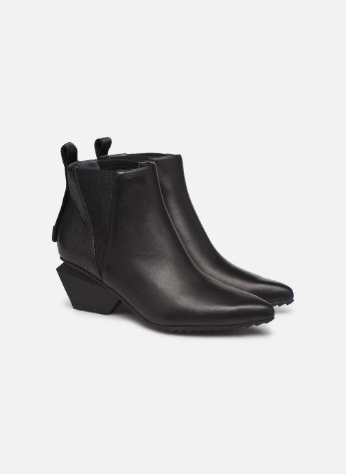 Bottines et boots United Nude Jacky Tek Bootie Mid Noir vue 3/4